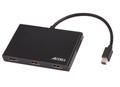 ACCELL Splitter  1:3 miniDP til 3 HDMI Multi-Display MST Hub