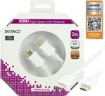 Deltaco HDMI-kabel v1.4 + Ethernet, 19-pin