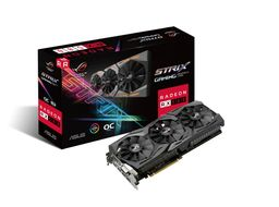 ASUS Radeon RX 580 8GB ROG Strix Gaming Skjermkort,  PCI-Express 3.0, GDDR5, Polaris (ROG-STRIX-RX580-O8G-GAMING)