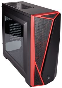 CORSAIR Carbide SPEC-04 Mid-Tower Case, Black & Red (CC-9011107-WW)