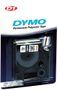 DYMO D1 12mm Permanent, Sort/ Hvit
