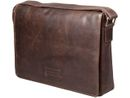 DBRAMANTE1928 Leather messenger bag Marselisborg up to 14'' - Hunter dark