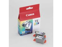 CANON BCI-15 ink cartridge tri-colour standard capacity 2 x 7.5ml 2 x 100 pages 2-pack (8191A002)