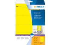 super print, label size, 192 x 61 mm, 20 sheets, yellow, 80 labels (20)