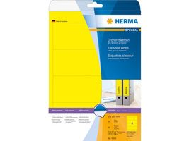 HERMA super print, label size, 192 x 61 mm, 20 sheets, yellow, 80 labels (20) (5096)