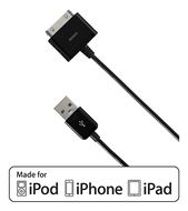 Deltaco USB-synkkabel till iPhone/ iPod,  1m, svart (IPNE-505)