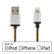 STREETZ USB - Lightning-kabel,  MFi, Tygklädd, 3m, orange