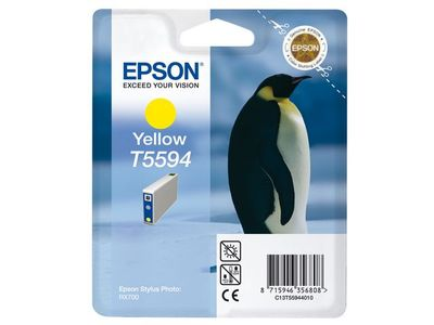 EPSON Yellow Ink Cartridge T559 For Stylus Photo RX700 (C13T55944010)