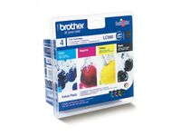BROTHER Bläckpatron Brother Value Pack (LC980VALBPDR)