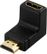 DELOCK HDMI-adapter,  19-pin hane till hona, vinklad