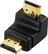 DELOCK HDMI-adapter,  19-pin hane till hane, vinklad