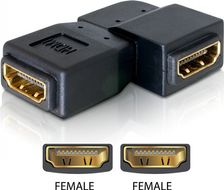 HDMI-adapter,  19-pin hona till hona, vinklad