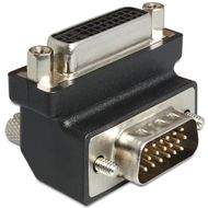 DELOCK adapter dvi 24+5 pin female to vga 15 pin male 90` (65425)