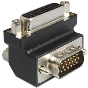 DELOCK Adapter DVI 24+5 female / VGA 15 pin male 90°angle (65425)