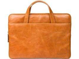 Leather case Silkeborg for PC & MacBooks up to 15'' - Golden