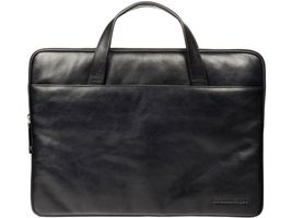 Leather case Silkeborg for PC & MacBooks up to 15'' - Black