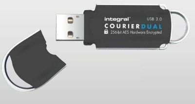 INTEGRAL USB-Stick 64GB USB3.0 Courier Dual FIPS197 Win/M (INFD64GCOUDL3.0-197)