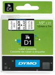 DYMO D1 12mm Black/ Clear labels (S0720500)