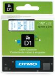 DYMO D1 12mm Tape blue/ white (S0720540 $DEL)