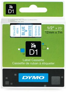 DYMO D1 12mm Tape blue/ white (S0720540)