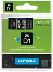 DYMO D1 12mm tape Hvid/Sort
