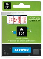 DYMO 45015 1/2IN X 23FT RED/WHITE PRINTING D1 TAPE CARTRIDGE          (45015)