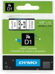 DYMO D1 12mm Black/ Blue labels 45016 (S0720560 $DEL)