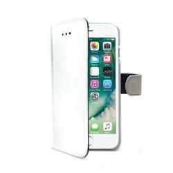 CELLY WALLET CASE (APPLE IPHONE 7 PLUS WHITE) (WALLY801WH)