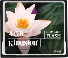 KINGSTON Flash card CF  4GB Kingston (CF/4GB)