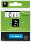 DYMO D1 6mm Sort/ Hvit (S0720780)