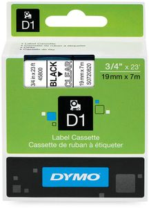 DYMO D1 19mm  Sort/Klar (S0720820)