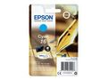 EPSON 16 ink cartridge cyan standard capacity 3.1ml 165 pages 1-pack blister without alarm