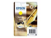 EPSON 16 ink cartridge yellow standard capacity 3.1ml 165 pages 1-pack blister without alarm