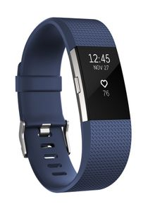FITBIT Charge 2 - Blue/ Silver - Small (FB407SBUS)