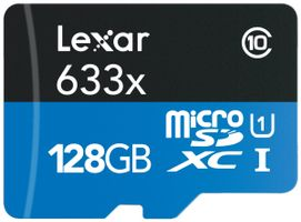 128GB microSDHC UHS-I High Speed w adapter CL10