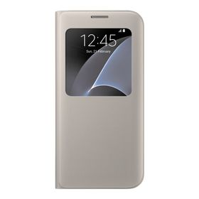 Galaxy S7+ S View Cover Gold