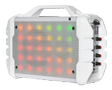 iDance Blaster 200, portable bluetooth speaker with disco lights, white