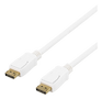DELTACO DP-1051 - DisplayPort kabel - DisplayPort (han) - DisplayPort (han) - 5 m - hvid