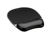 Crystal black mousepad & wrist rest / FELLOWES (9112101)