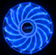AKASA 12cm Vegas 15 Blue LED fan antivibe damp pads, sleeve bearing