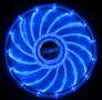 AKASA 12cm Vegas 15 Blue LED fan antivibe damp pads,sleeve bearing