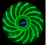 AKASA 12cm Vegas 15 Green LED fan antivibe damp pads,sleeve bearing