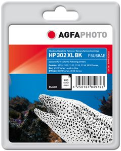 AGFAPHOTO Ink, Black HP No. 302 XL (APHP302XLB)