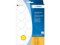 multi-purpose labels, ø 32 mm, yellow, (480)