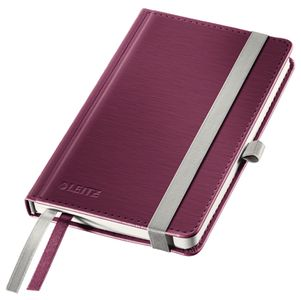 LEITZ Notepad Style A6 hard squared 80s red (44910028*5)