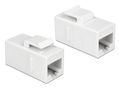 DELOCK 86379 Keystone Module RJ45 jack to RJ45 jack Cat.6 UTP white