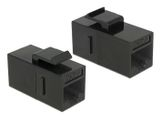 DELOCK 86381 Keystone Module RJ45 jack to RJ45 jack Cat.6 UTP black