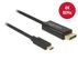 DELOCK 85255 Cable USB Type-C male to Displayport male (DP Alt Mode)