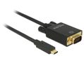 DELOCK 85261 Cable USB Type-C male to VGA male (DP Alt Mode) Full HD