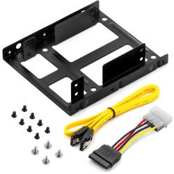 """DELEYCON deleyCON SSD Mounting Frame Set - 2x 2.5"""" SSD to 3, .5"""" incl. Accessories (MK-MK1225)"""
